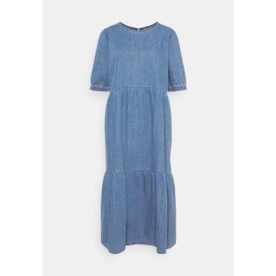 ノイズィーメイ レディース ファッション NMSESSI DRESS - Denim dress - medium blue denim