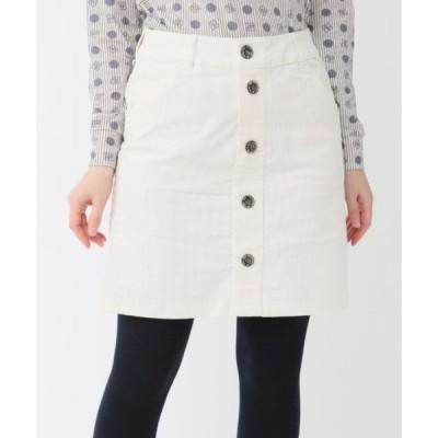 スカート 《ZOY》FRONTボタン コーデュロイスカート