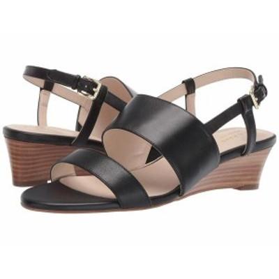 コールハーン レディース ヒール シューズ Annabel Grand Wedge Sandal Black Leather