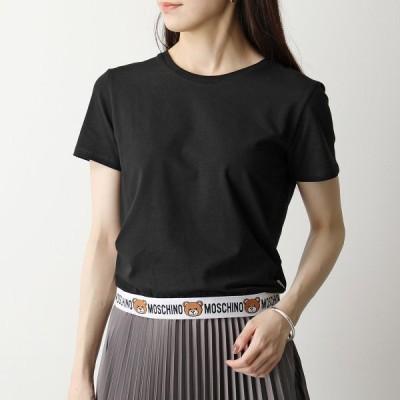 MOSCHINO UNDERWEAR モスキーノ アンダーウェア 1908 9003 半袖 Tシャツ カットソー ロゴT クルーネック くま テディベア 0555 レディース