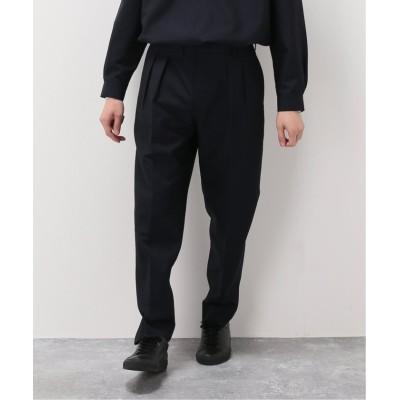 【エディフィス】 Leonard テーパードパンツ メンズ ネイビー L EDIFICE
