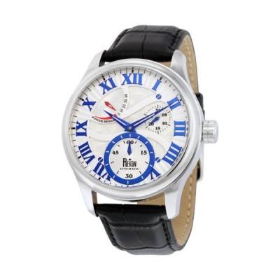 Reign Bhutan ホワイト Engraved ダイヤル ステンレス スチール ブラウン レザー メンズ 腕時計 RN1601