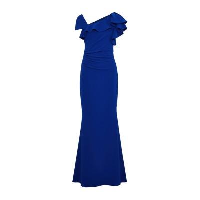 BADGLEY MISCHKA ロングワンピース&ドレス ブルー 10 ポリエステル 95% / ポリウレタン 5% ロングワンピース&ドレス