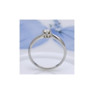 ★ゼクシィネット特別価格★婚約指輪  お得♪人気のシンプルプラチナ製ダイヤモンドリング E1007-18F-H6