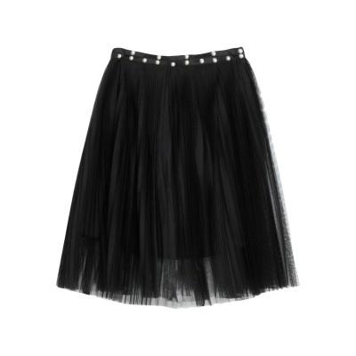 リュー ジョー LIU •JO ひざ丈スカート ブラック 38 ポリエステル 100% ひざ丈スカート