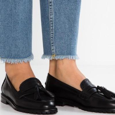 アンナフィールド レディース 靴 シューズ LEATHER FLAT SHOES - Slip-ons - black
