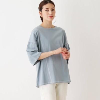 シューラルー SHOO-LA-RUE 切り替えステッチTシャツ (ブルー)