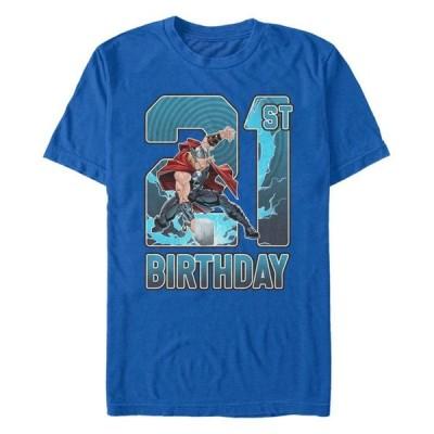 マーベル メンズ Tシャツ トップス Fifth Sun Men's Thor 21st Birthday Short Sleeve T-Shirt