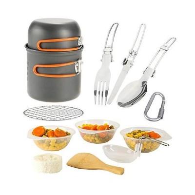 全国送料無料!BAIYAN Outdoor Supplies, Outdoor Cookware Set, Outdoor Trekking Camping Set, Firewood Stove with Tableware Picnic &Stac