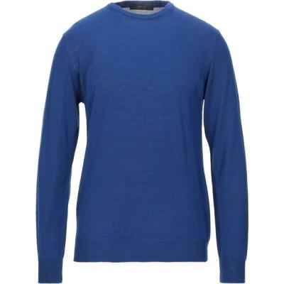 ブイネック VNECK メンズ ニット・セーター トップス sweater Bright blue
