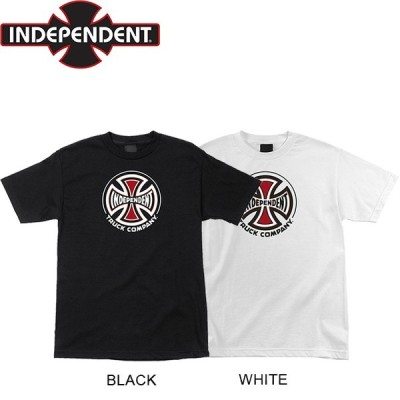 INDEPENDENT TRUCK CO SS TEE WHITE BLACK インディペンデント トラック 半袖 Tシャツ ブラック ホワイト 19m