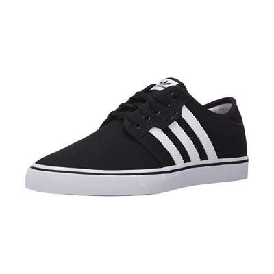 adidas Originals Men's Seeley Running Shoe, Black/White/Gum, 12 M US