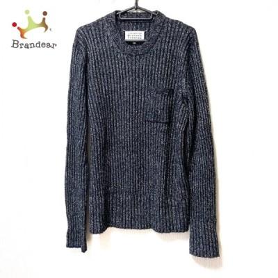 メゾンマルジェラ Maison Margiela 長袖セーター サイズL メンズ - 黒×白 クルーネック 新着 20210331