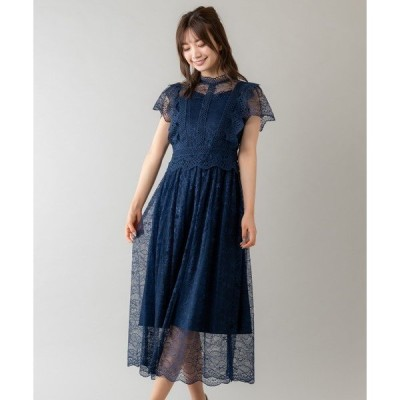 ドレス プチハイネックレースドレス(0R04-01054)