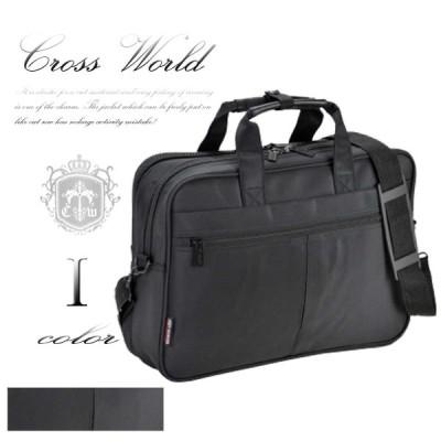 ブリーフケース メンズ カジュアル ビジネスバッグ 2室式 Y付 軽量 カバン 軽いマイクロファイバー ビジカジ B4F ブラック 黒 CWH180603F