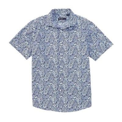 ダニエル クレミュ メンズ シャツ トップス Paisley Print Multi-Color Short-Sleeve Woven Shirt