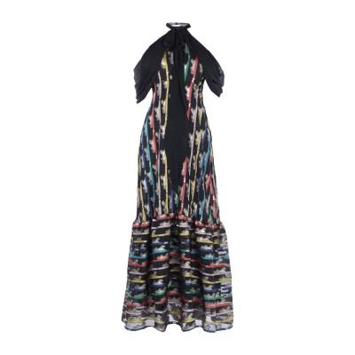 メアリー・カトランズ MARY KATRANTZOU ロングワンピース&ドレス ブラック 6 ポリエステル 57% / シルク 43% ロングワンピ