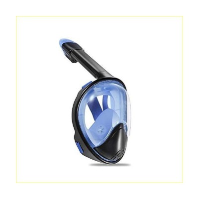 YRT Snorkel Mask Full Face for Adult, Full Face Snorkel Mask 180 Panoramic View Free Breathing Snorkeling Mask with Detachable Camera Mount,