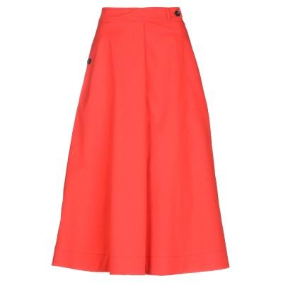テーラ TELA 7分丈スカート レッド 46 コットン 97% / ポリウレタン 3% 7分丈スカート