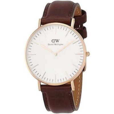 腕時計 ダニエルウェリントン Daniel Wellington レディース 0511DW 'Bristol' ブラウン レザー 腕時計