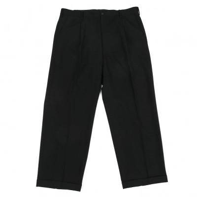 ヨウジヤマモト プールオムYohji Yamamoto POUR HOMME ウールギャバタックパンツ 黒6 【メンズ】