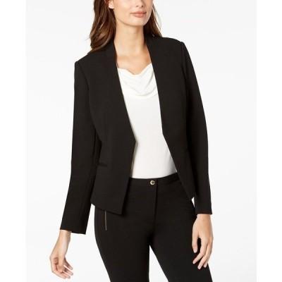 カルバンクライン ジャケット&ブルゾン アウター レディース Asymmetrical Open-Front Blazer Black