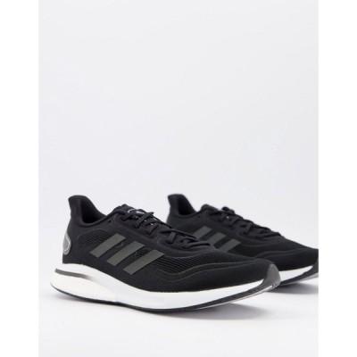 アディダス adidas performance メンズ ランニング・ウォーキング シューズ・靴 adidas Running Supernova trainers in black and white ブラック