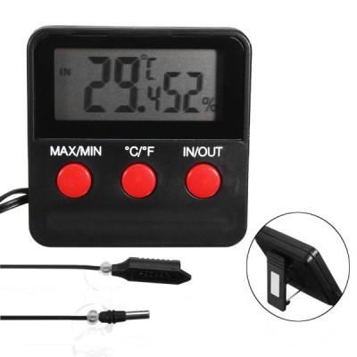 卵インキュベーターペット用デジタル温度計湿度計湿度計プローブ