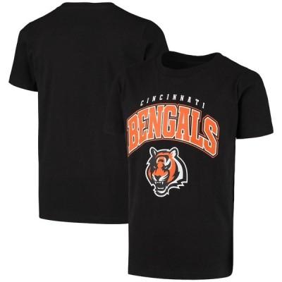 """キッズ Tシャツ """"Cincinnati Bengals"""" Youth Stripes T-Shirt - Black"""