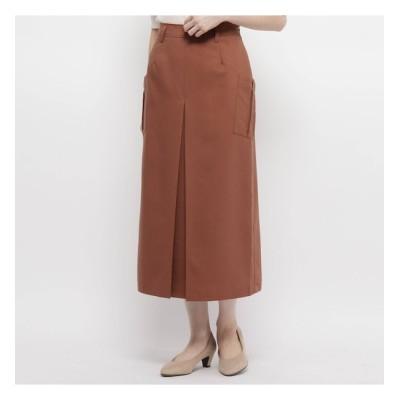 【スマート ピンク/smart pink】 【手洗い可】インバーテッドプリーツロングスカート
