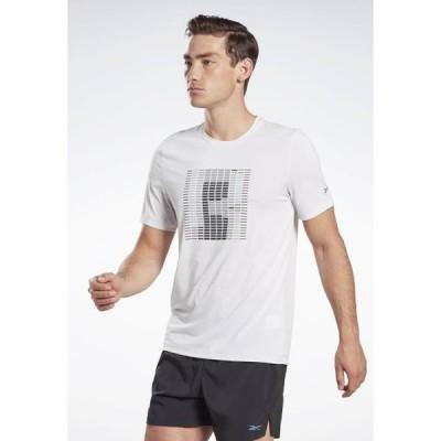 リーボック メンズ スポーツ用品 RUN ACTIVCHILL - Print T-shirt - white