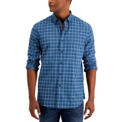 クラブルーム メンズ シャツ トップス Men's Soft Brushed Cotton Plaid Shirt