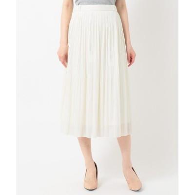 【エニィスィス】 チュールプリーツ スカート レディース アイボリー 3 any SiS
