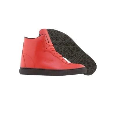 スニーカー メンズ エーライフ  ALIFE Everybody Mono Super - Box Leather (red) EVMSRD-H08