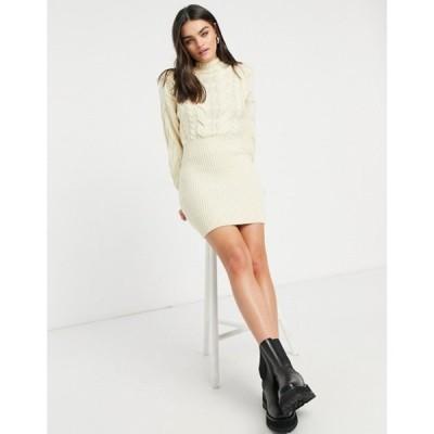 スカイラーローズ レディース ワンピース トップス Skylar Rose cable knit high neck sweater dress