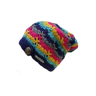 ドイツ発(MOSHIKI BRAND):レディース ヘチマ型ニット帽子:Garima NR2(ネイビー)