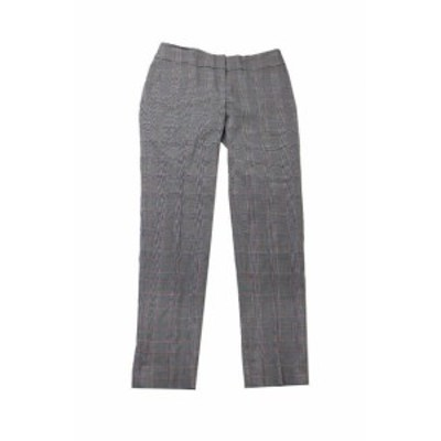 Nine West ナインウエスト ファッション パンツ Nine West Gris Cuadros Pierna Recta Pantalones 2