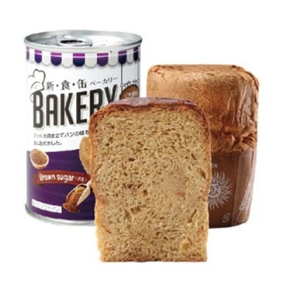 ○お取り寄せ商品 新・食・缶ベーカリー 缶入りソフトパン・黒糖(5年)×24缶入 缶パン 非常食 送料無料 04902