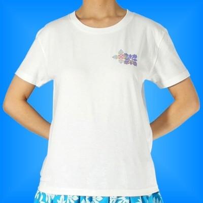 フラダンス Tシャツ XL キルト バック ホワイト 553xlw