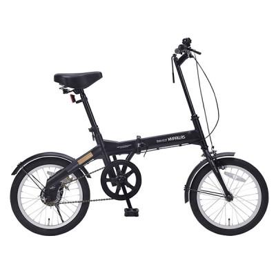 マイパラス M-100-BK ブラック [折りたたみ自転車 (16インチ)] 折りたたみ自転車・ミニベロ