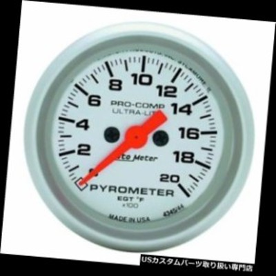 タコメーター オートメーター4345ウルトラライトデジタルステッパーモーターパイロメーターゲージ  Auto Meter 43