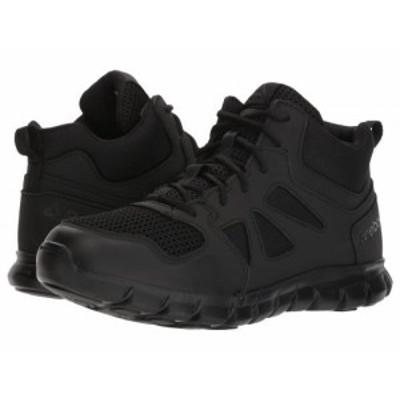 Reebok Work リーボック メンズ 男性用 シューズ 靴 ブーツ ワークブーツ Sublite Cushion Tactical Mid Black【送料無料】