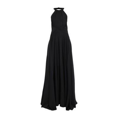 MANGANO ロングワンピース&ドレス ブラック 46 ポリエステル 97% / ポリウレタン 3% ロングワンピース&ドレス