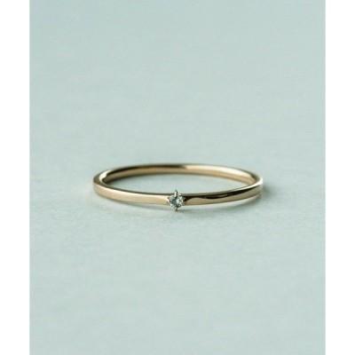 指輪 K10MPG ミストピンク グレーダイヤモンド リング