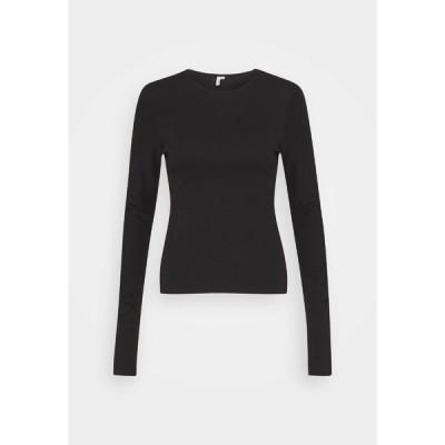 ニリーバイネリー カットソー レディース トップス SLEEVE DETAIL - Long sleeved top - black