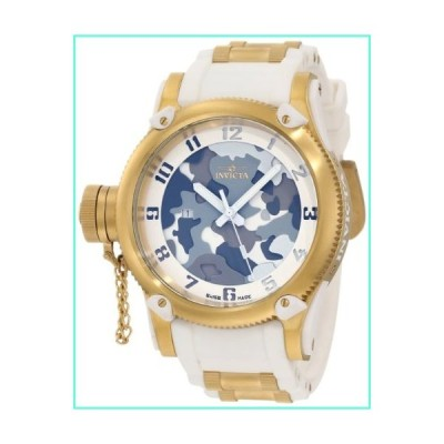 Invicta Men's 11338 Russian Diver Grey, Beige and Brown Camouflage Dial White Polyurethane Watch並行輸入品