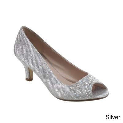 海外バイヤー厳選ブランド ヒール Bonnibel Wonda-2 Women's Low Heel Glitter Slip-on Dress Pumps