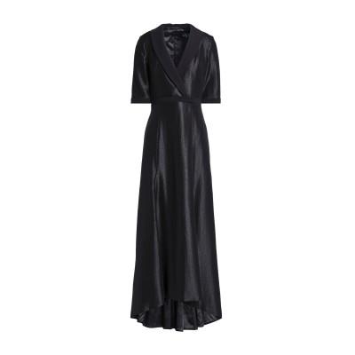 BLACK HALO EVE by LAUREL BERMAN ロングワンピース&ドレス ブラック 0 レーヨン 70% / ナイロン 19% /