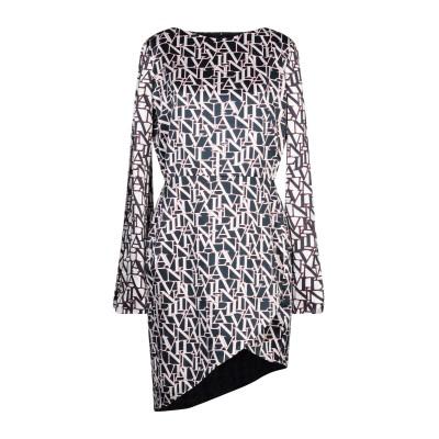 ランバン LANVIN ミニワンピース&ドレス ダークブルー 36 シルク 100% ミニワンピース&ドレス