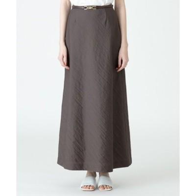 スカート フレンチカルゼバック釦ナロースカート